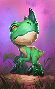 Fotos Hearthstone: Heroes of Warcraft Dinosaurier Jungtiere Ravasaur Runt Spiele