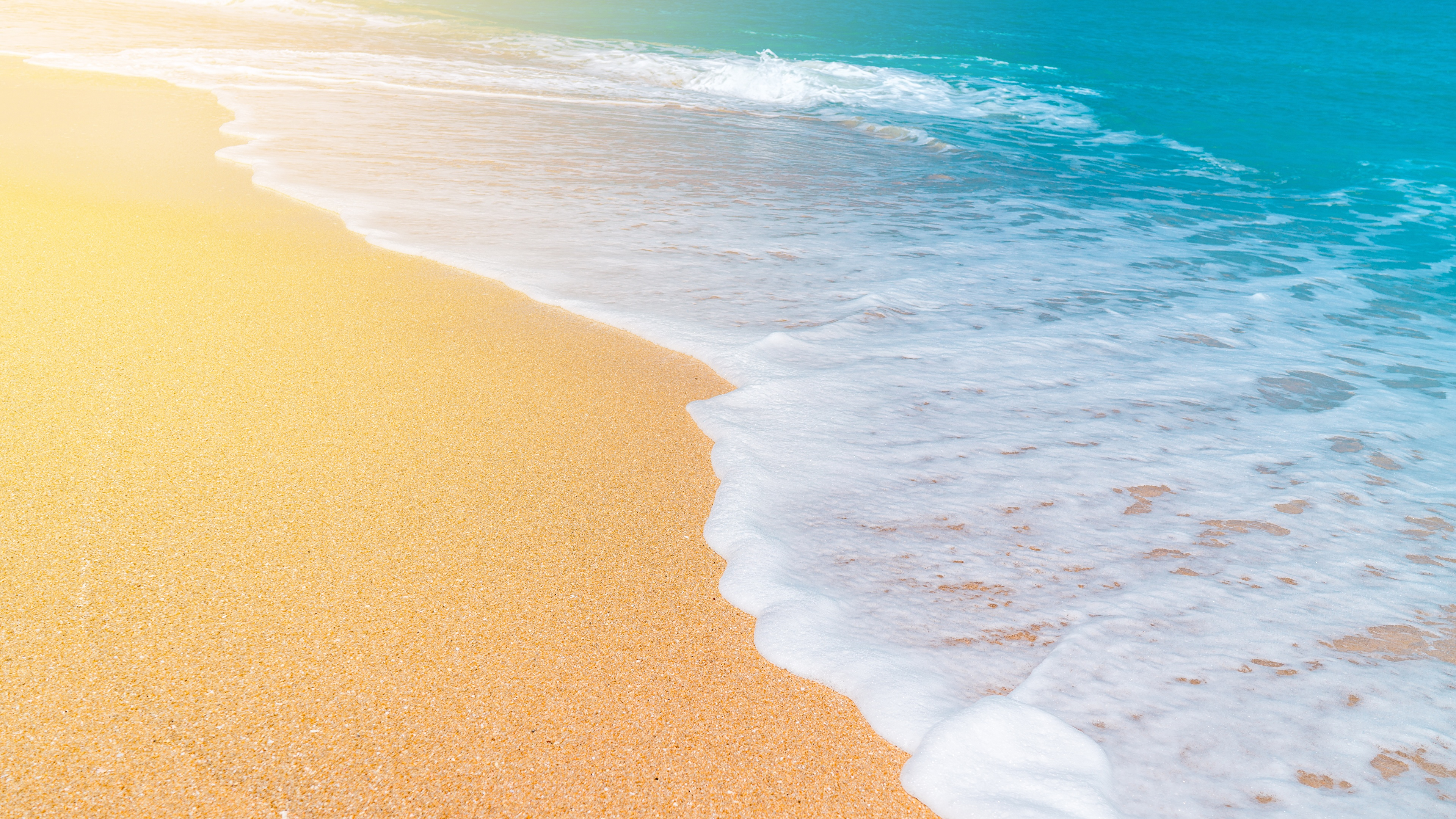 Pictures Sea Nature Sand Waves Foam 3840x2160