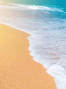 Bilder Meer Wasserwelle Sand Schaum