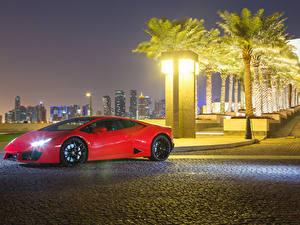 Bilder Lamborghini Rot Metallisch 2015-17 Huracan LP 580-2