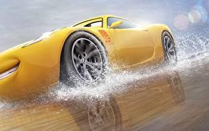 Fonds d'écran Cars 3 Jaune