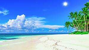 Bilder Himmel Küste Meer Tropen Strand Wolke Natur