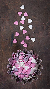 Hintergrundbilder Valentinstag Süßware Bonbon Herz