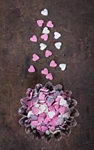Papéis de parede Dia dos Namorados Confecção Bala (doce) Coração Alimentos