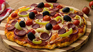 Hintergrundbilder Fast food Pizza Oliven Schneidebrett