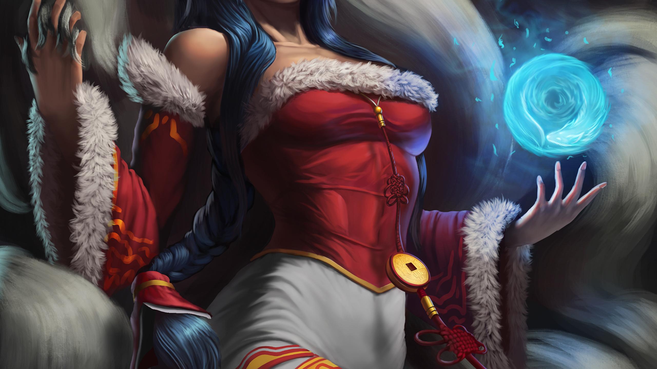Desktop Wallpapers Ahri League Of Legends Sorcery Female 2560x1440