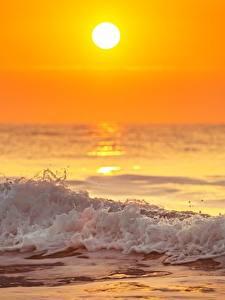 Hintergrundbilder Abend Sonnenaufgänge und Sonnenuntergänge Wasserwelle Meer Sonne