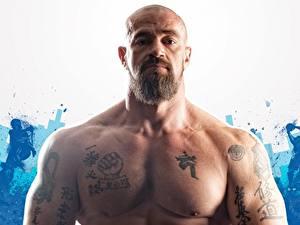 Hintergrundbilder Mann Bärtige Tätowierung Muskeln Sergey Badyuk