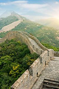 Sfondi desktop Grande muraglia cinese Cina Parete Natura