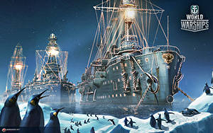 Fotos World Of Warship Schiffe Pinguine Russische Cruiser 'Aurora' Spiele Heer