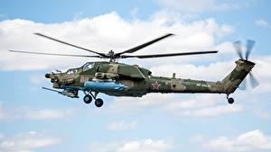 Hintergrundbilder Hubschrauber Russischer Mil Mi-28