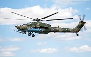 Hintergrundbilder Hubschrauber Russische Mil Mi-28 Luftfahrt