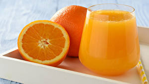 Bilder Fruchtsaft Apfelsine Trinkglas