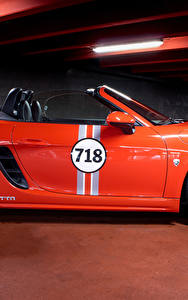 Picture Porsche Orange Metallic Side Roadster 2017 MTM 718 Boxster Cars