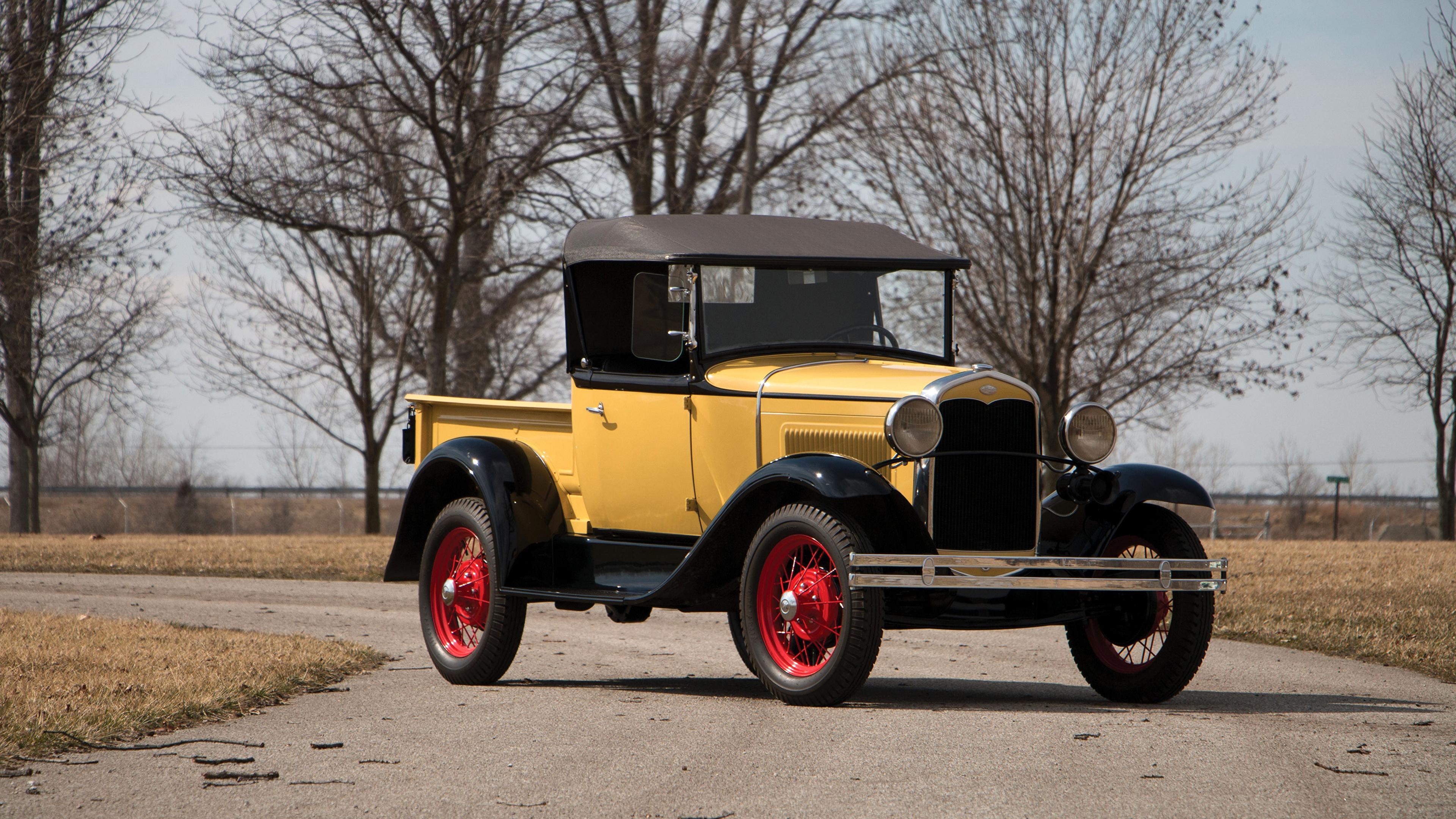 Papeis De Parede 3840x2160 Ford Retro 1931 Model A Roadster Pickup Amarelo Carros Baixar Imagens