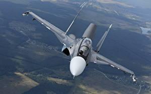 Bilder Flugzeuge Jagdflugzeug Soukhoï Su-30 Russische Flug SM Luftfahrt