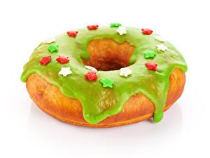 Bilder Backware Donut Weißer hintergrund Design Lebensmittel