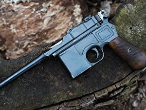 Hintergrundbilder Pistolen Großansicht 1918 Mauser C96 Autos