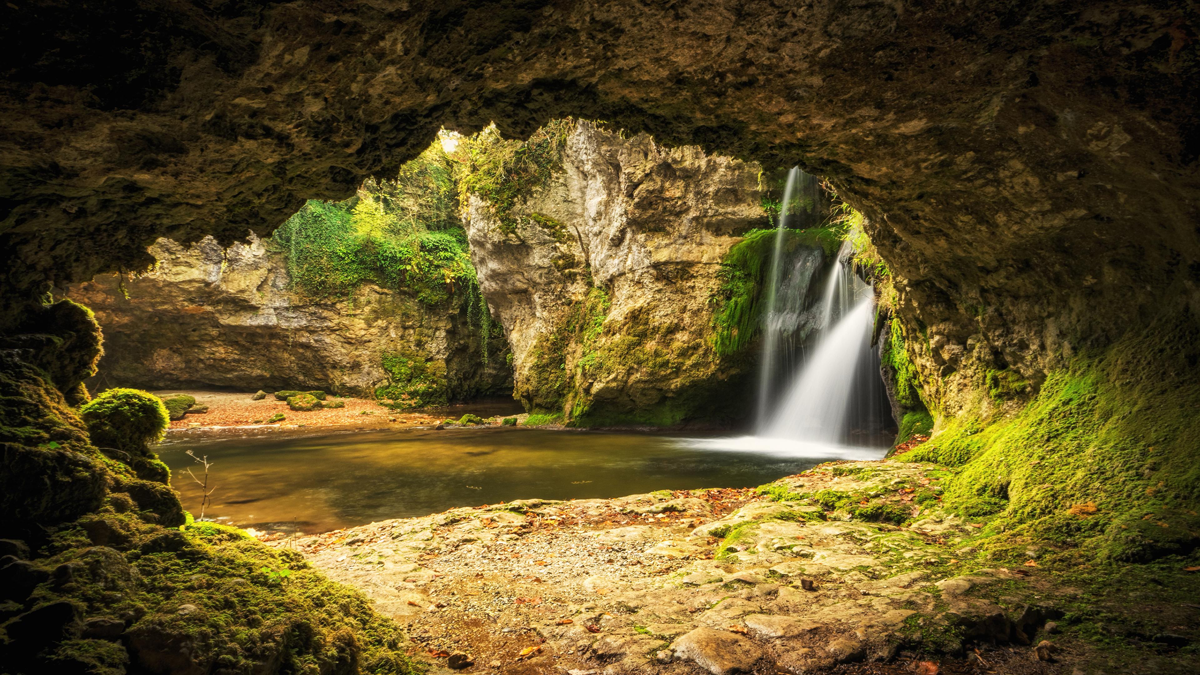 Cueva [bosque de Hermitage] - Página 2 Switzerland_Rivers_Waterfalls_Venoge_Cave_Moss_541760_3840x2160