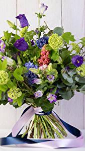 Hintergrundbilder Sträuße Glockenblumen Bretter Blumen