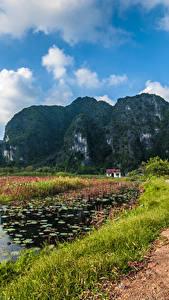 Fotos Vietnam Gebirge Wege See Landschaftsfotografie Felsen