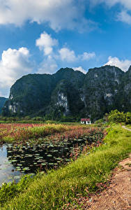 Fotos Vietnam Berg Wege See Landschaftsfotografie Felsen