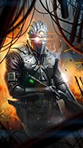 Bilder Krieger Gewehr Helm Polizei Rüstung Fantasy