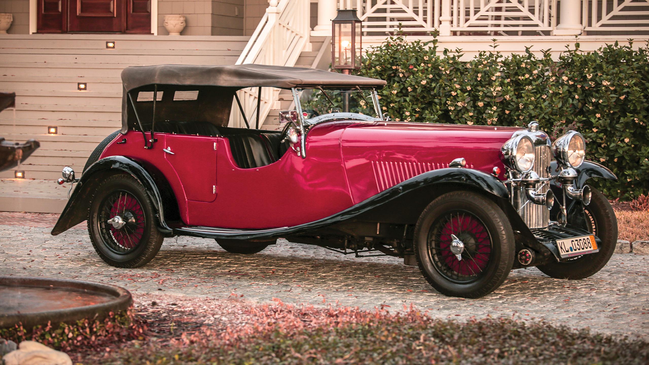 Photos 1934 Lagonda 16 80 Tourer Red Vintage Cars Metallic 2560x1440
