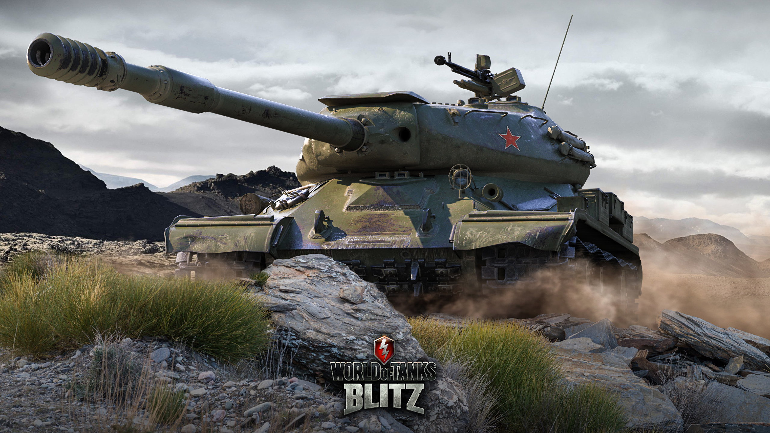 Wallpapers World of Tanks tank Russian Blitz  IS-4 Games 2560x1440