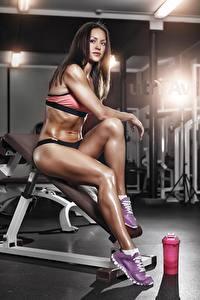 Hintergrundbilder Fitness Bein Fitnessstudio Mädchens