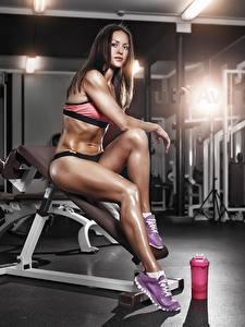 Hintergrundbilder Fitness Bein Fitnessstudio Sport Mädchens