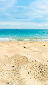 Fotos Meer Strände Sand Natur