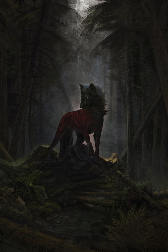 Wallpaper Wolves Fantasy Magical Animals 640x960