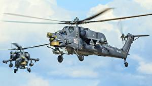 Images Helicopters Russian Mi-28N Aviation