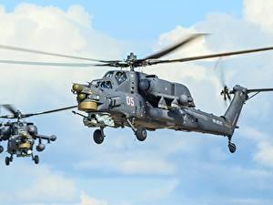 Hintergrundbilder Hubschrauber Russischer Mi-28N