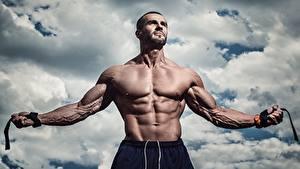 Pictures Men Bodybuilding Muscle Belly Hands Sport