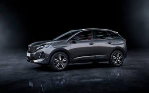 Fotos Peugeot Crossover Graue Metallisch Seitlich 3008 GT, 2020 Autos