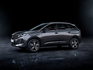 Photo Peugeot Crossover Gray Metallic Side 3008 GT, 2020 Cars