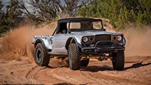 Hintergrundbilder Jeep Sport Utility Vehicle Pick-up Silber Farbe 2019 M-715 Five-Quarter