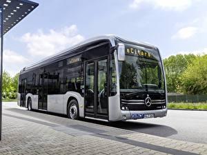 Images Mercedes-Benz Bus Silver color eCitaro auto