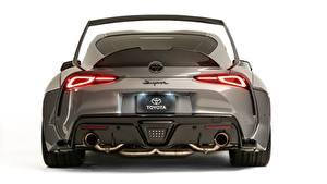 Bilder Toyota Graue Metallisch Hinten Weißer hintergrund GR Supra, A90, 2019, Rutledge Wood, HyperBoost auto