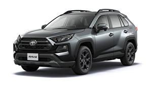 Bilder Toyota Graues Metallisch Weißer hintergrund RAV4 Adventure, Offroad Package, JP-spec, 2020 auto