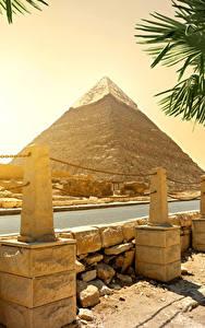 Bilder Ägypten Wüste Flusse Steine Pyramide bauwerk Cairo
