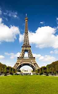 Fotos Frankreich Park Eiffelturm Paris Städte