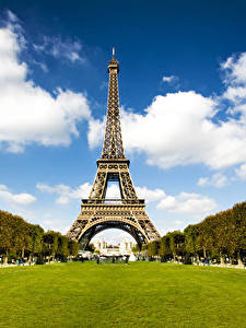 Photo France Parks Eiffel Tower Paris Cities