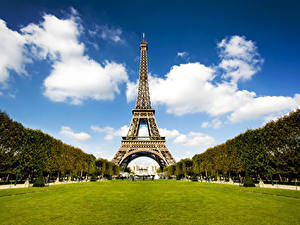 Photo France Parks Eiffel Tower Paris