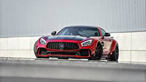 Fotos Mercedes-Benz Vorne Rot Metallisch AMG GT auto