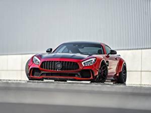 Fotos Mercedes-Benz Vorne Rot Metallisch AMG GT