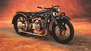 Pictures Antique BMW - Motorcycle Black 1929-35 R 11 Motorcycles