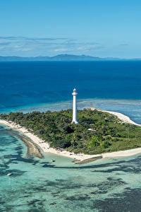 Hintergrundbilder Frankreich Meer Insel Leuchtturm Schiffsanleger Amedee Lighthouse Natur